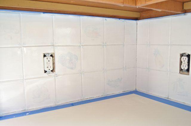 How To Paint A Kitchen Tile Backsplash Hunker Kitchen Tiles Backsplash Painting Kitchen Tiles Painting Tile Backsplash