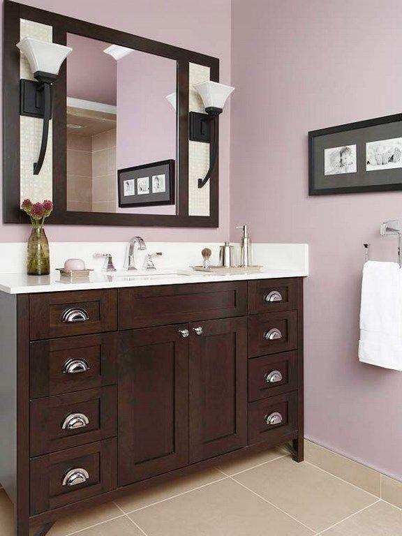 15 Charming Purple Bathroom Ideas Rilane We Aspire To Inspire Purple Bathrooms Lavender Walls Pastel Bathroom