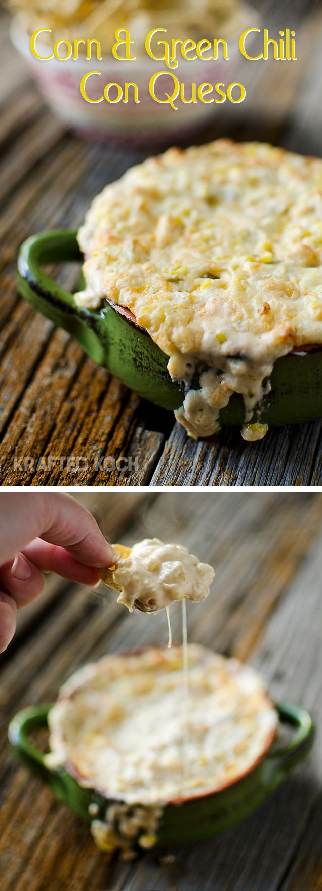 Corn & Green Chili Con Queso Dip from Krafted Koch