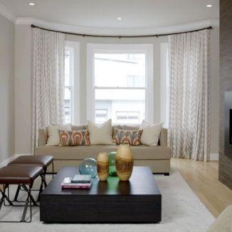 Light Flowy Curtains For Bow Window Bay Window Treatments