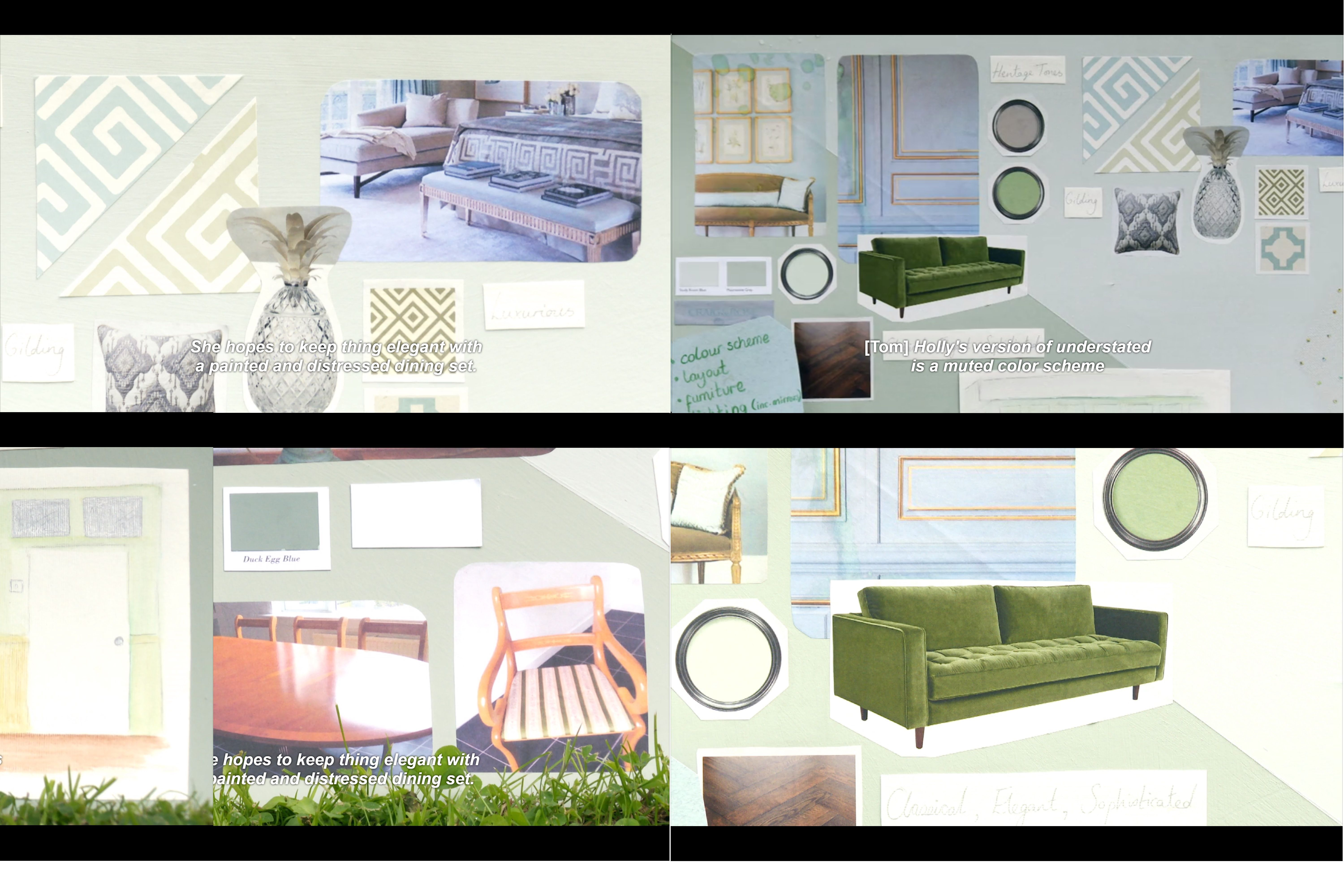 From Bbc Two S The Great Interior Design Challenge S1e3 Holly S Mood Board For A Regency Inspired Lo Great Interior Design Challenge Interior Interior Design