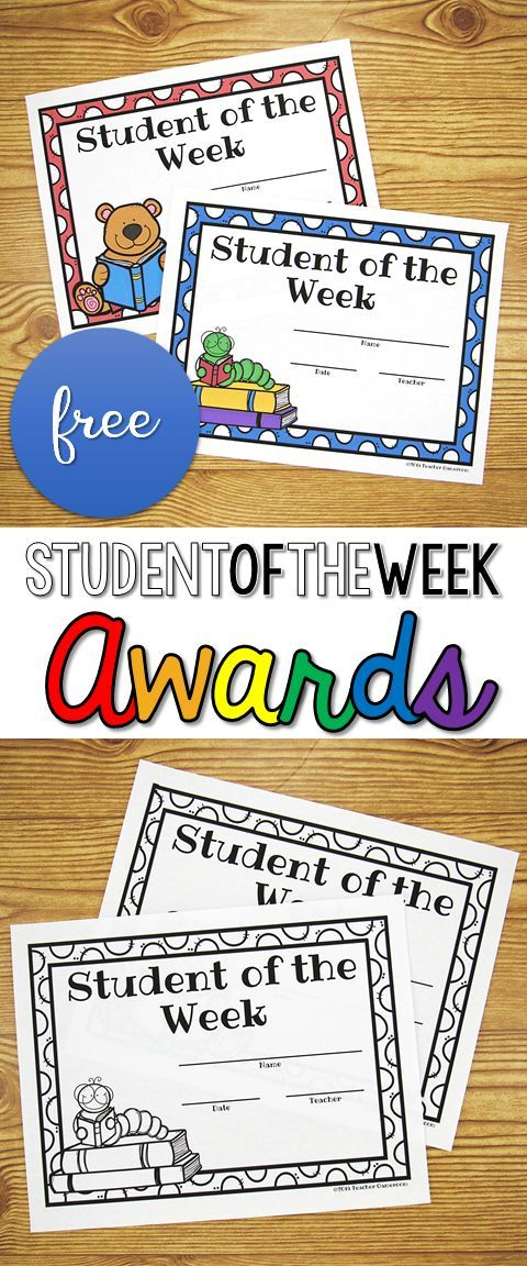 Freebie Student Of The Week Certificates Teachers Pay Teachers