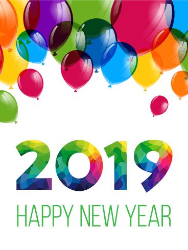 balloon happy year clipart
