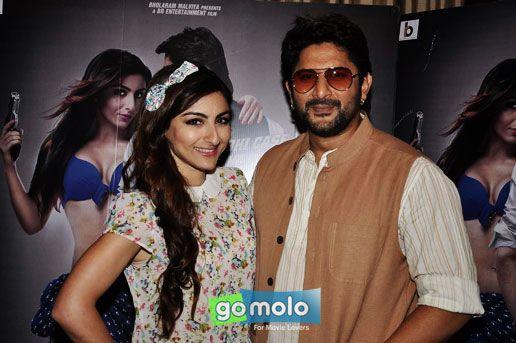 Soha Ali Khan & Arshad Warsi at the Promotion of  Hindi movie 'Mr Joe B. Carvalho' at Hotel Sun-N-Sand, Juhu, Mumbai