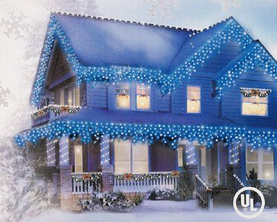 trendy set of 300 blue icicle christmas lights from the everstar basic series