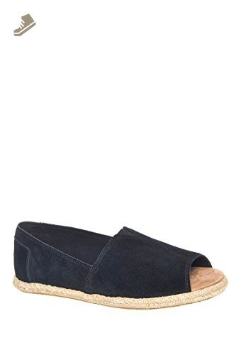 c2bfab3e47d TOMS Women s Alpargata Open Toe Black Suede Flat 10 B (M) - Toms flats for  women ( Amazon Partner-Link)