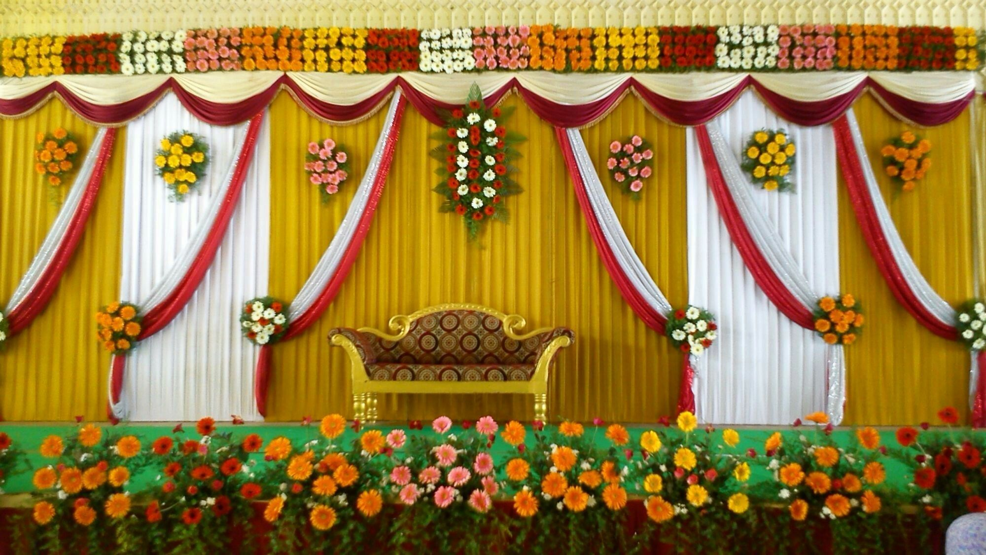 Day wedding stage decoration  Pin by sanjay das on j  Pinterest