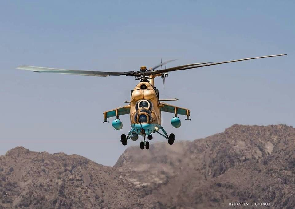 MI-35 gunship of Pakistan