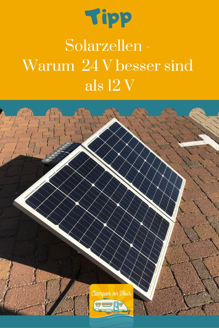 Nimm lieber 24 V Solarzellen!