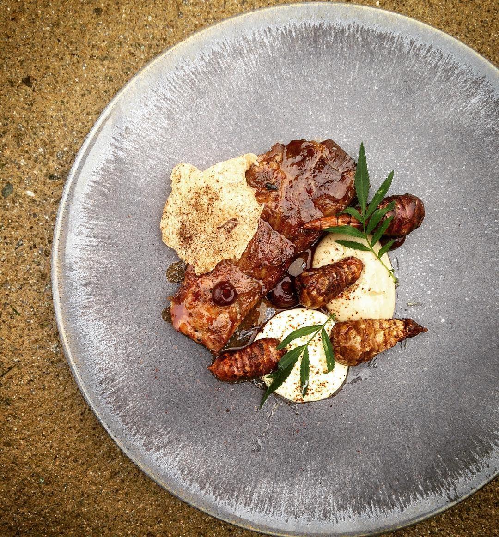 BBQ Iberico Pluma Artichoke Garlic Buttermilk Quince Marigold & Barley Crisp #chef #cheflife #chefstalk #theanchor #theartofplating #foodporn #food #foodstarz #gastroart #awesome #iphonesia #iphoneonly #igers #awesome #chefsofinstagram #chefsmind #thestaffcanteen #foodporn #tableart #truecooks #chefsroll #simple by mikelayf