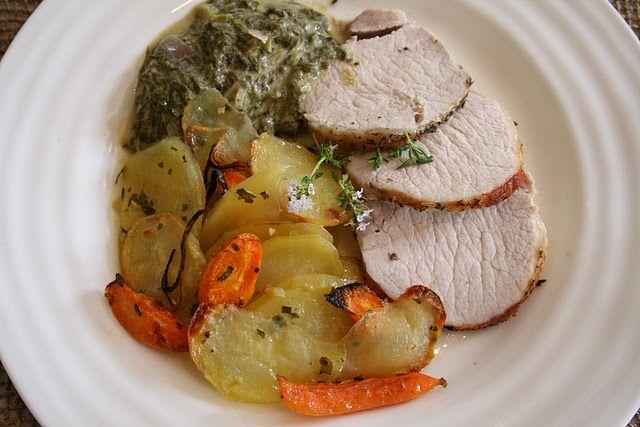 Roasted Pork with Creamed Sorrel
