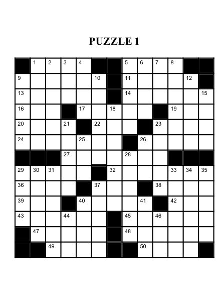 Here is the right page from the Extra Large crossword