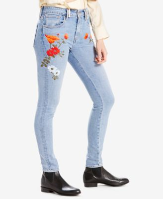 544c2c01252c Levi's 721 High-Rise Embroidered Skinny Jeans - Blue 33   Products ...