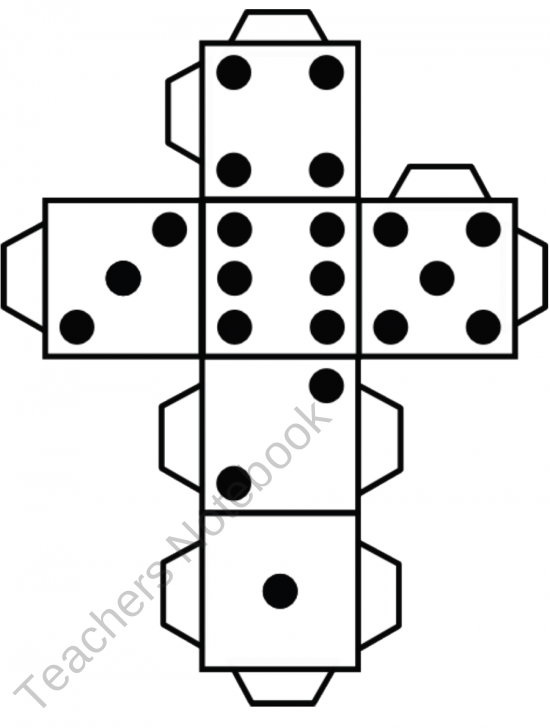3d cube template dice dice pinterest cube template and 3d
