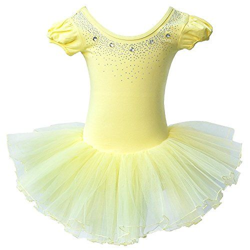 fffb31d09fbf BHL Girl Dance Dress Leotard Rhinestone 3-4 Years Yellow ... http ...