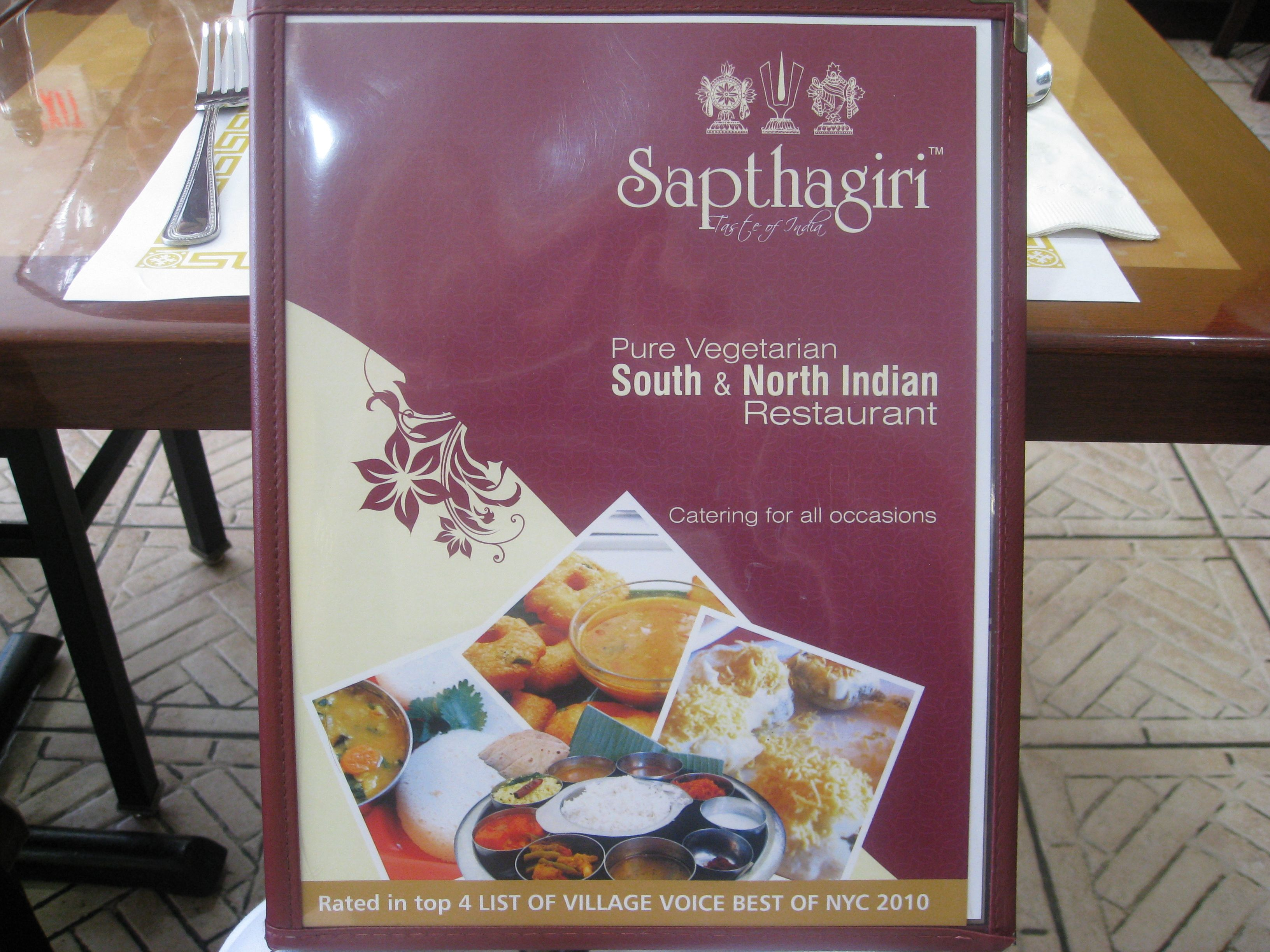 Sapthagiri A Taste Of India In Jersey City New Jersey