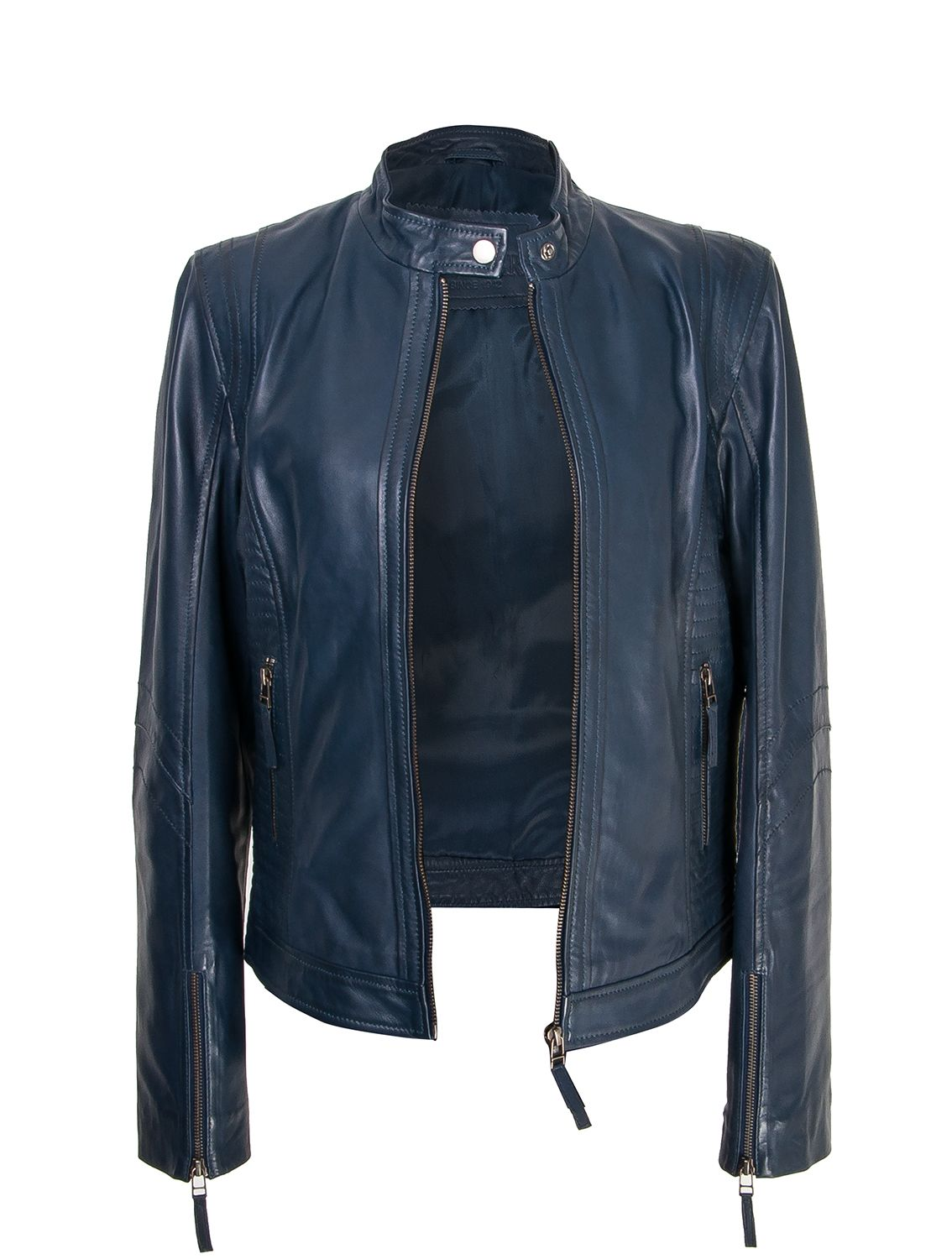 881b8777ee50c Navy Blue Leather jacket . Zerimar Spain Chaqueta piel azul marino ...