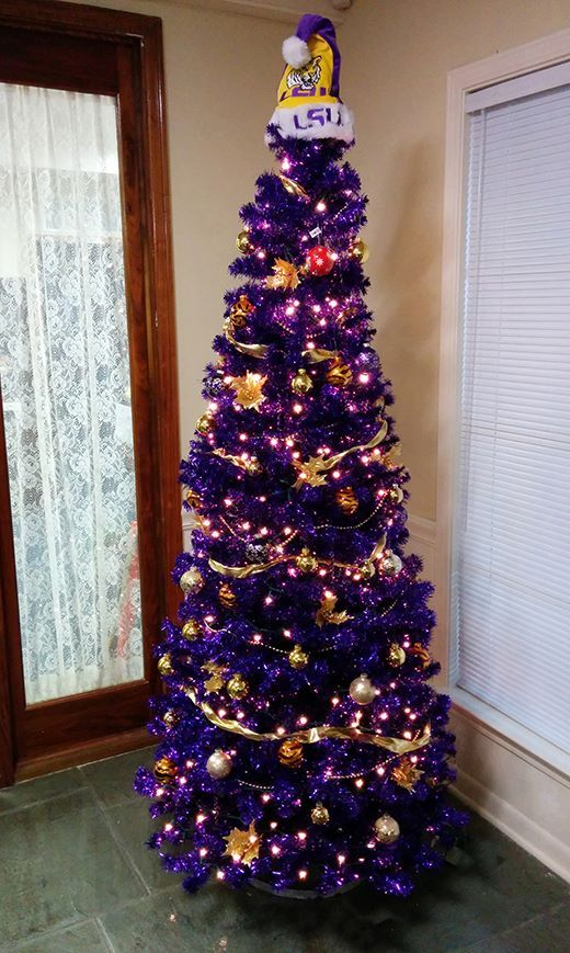 LSU Christmas! My son would love this tree! - LSU Christmas! My Son Would Love This Tree! Love Purple, Live Gold