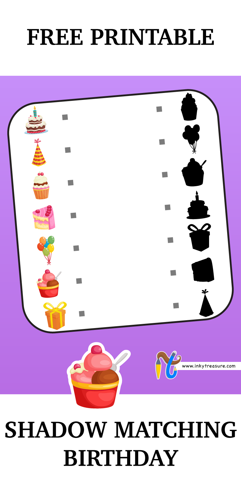 Use Pencil To Join The Birthday Colored Shapes To Match Birthday Black Shapes And Let Your Child Deci Free Printable Puzzles Matching Skills Printable Puzzles [ 1640 x 800 Pixel ]