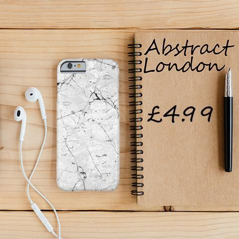 "White Marble Design Phone Case✔ Apple and Samsung Galaxy Model ✔£4.99 ✔WorldWide Shipping use discount code ""pinterest123"" to get 10% off at checkout"