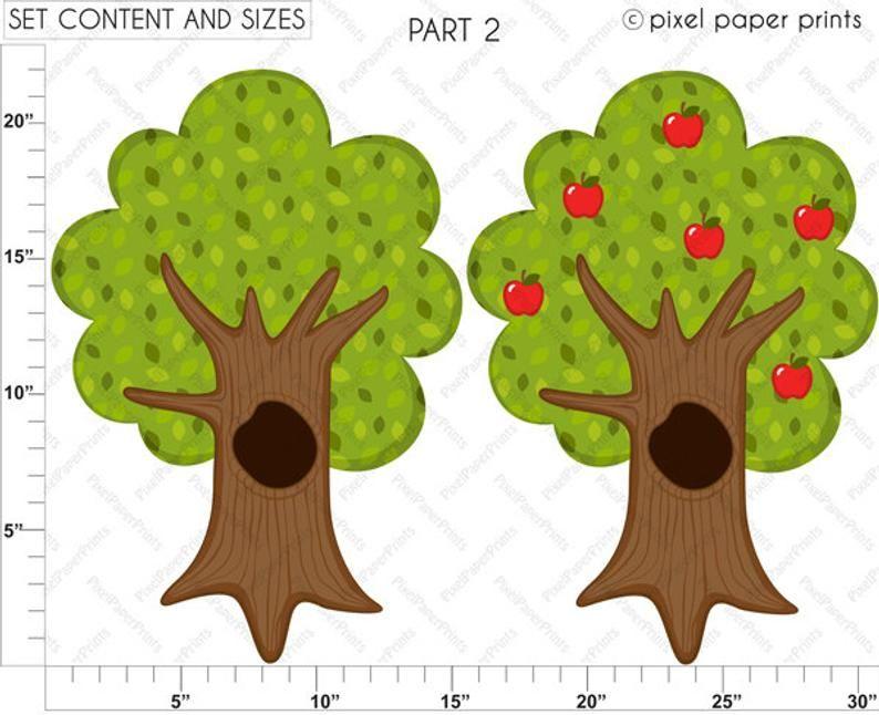 Forest Friends Clip Art And Digital Paper Set Digital Download Woodland Animals Digital Stickers Clip Art Digital Sticker Digital Paper