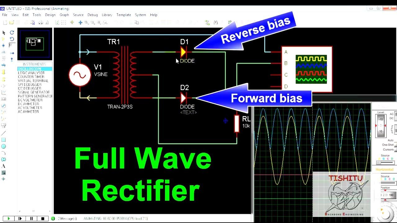 Full Wave Rectifier Pinterest Waves Highfrequency Signal Generator Free Electronic Circuits 8085