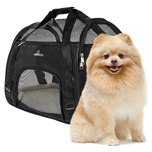 PetTech Pet Carrier for Small Dogs, Cats, Puppies, Kittens