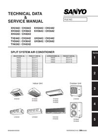 Sanyo CH3642 Air Conditioner Service Manual