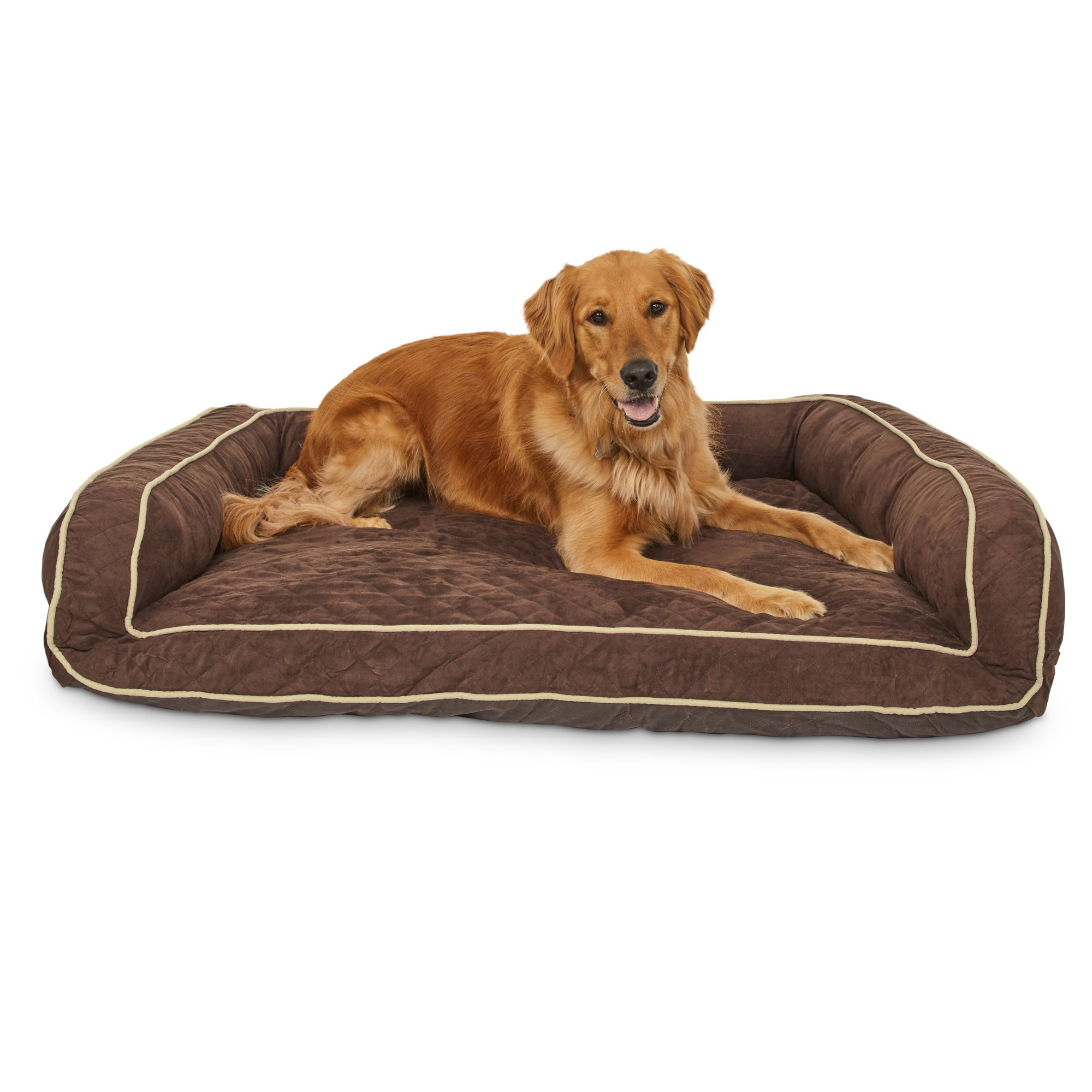 Memory Foam Brown Couch Dog Bed 48 L X 36 W X Large Dog Bed