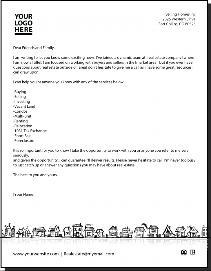New agent letter real estate pinterest real estate for Covering letter for estate agent job