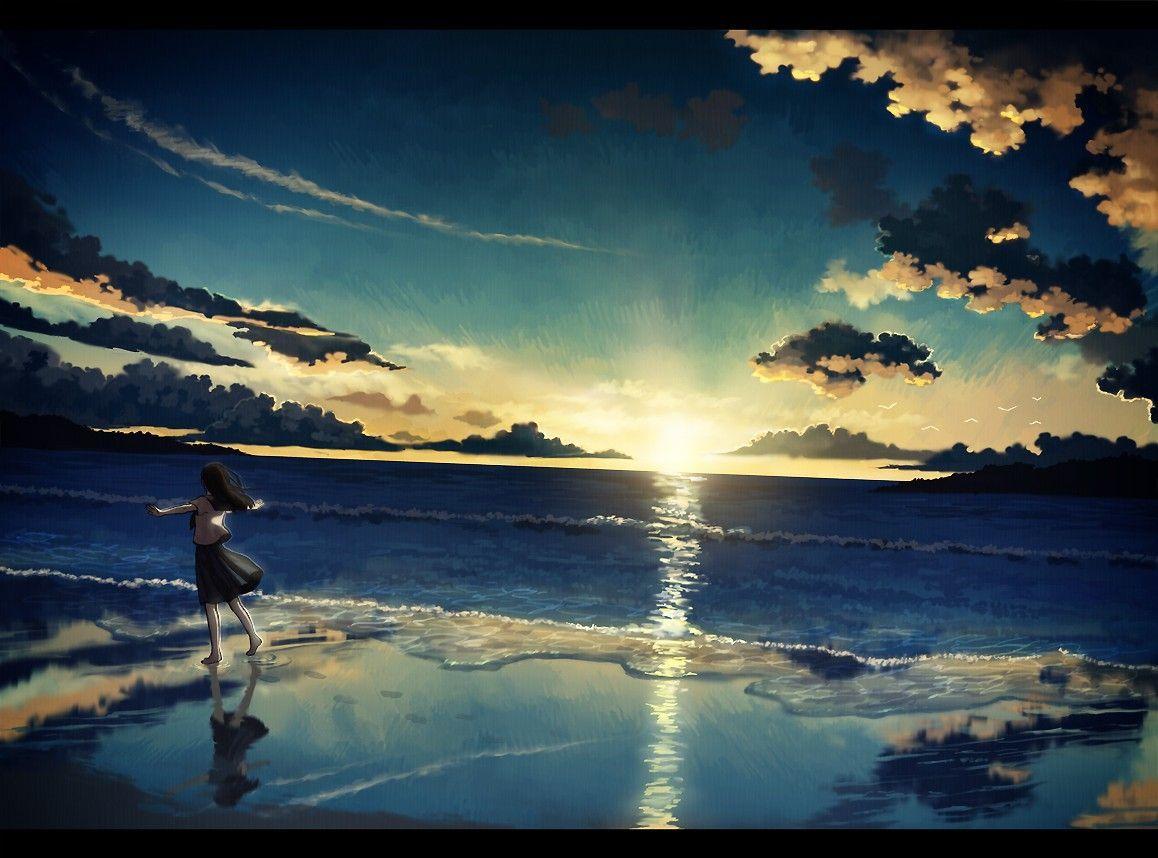 切ない イラスト の画像検索結果 風景 アニメの風景 風景写真