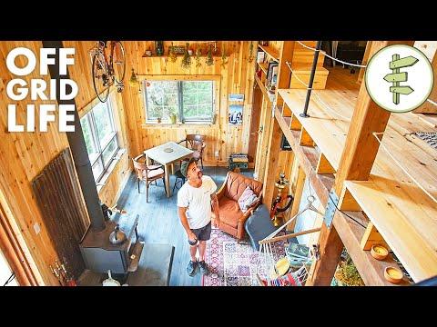 38 Man Living Off Grid In His Incredible Self Built Cabin