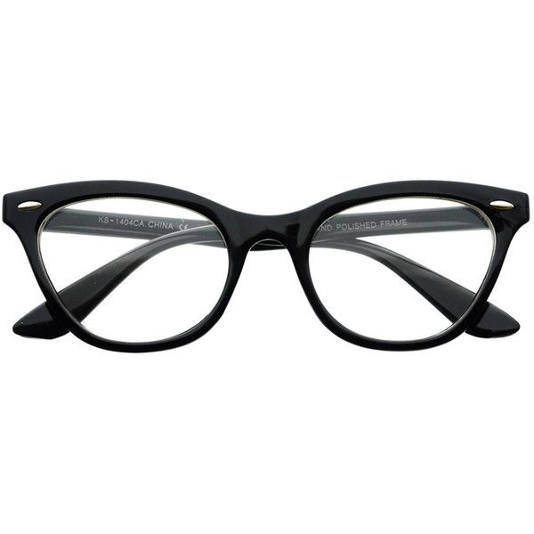 af8409e19f Womens Clear Lens Retro Cat Eye Wayfarer Glasses Frames W40 ( 5) ❤ liked on  Polyvore featuring accessories