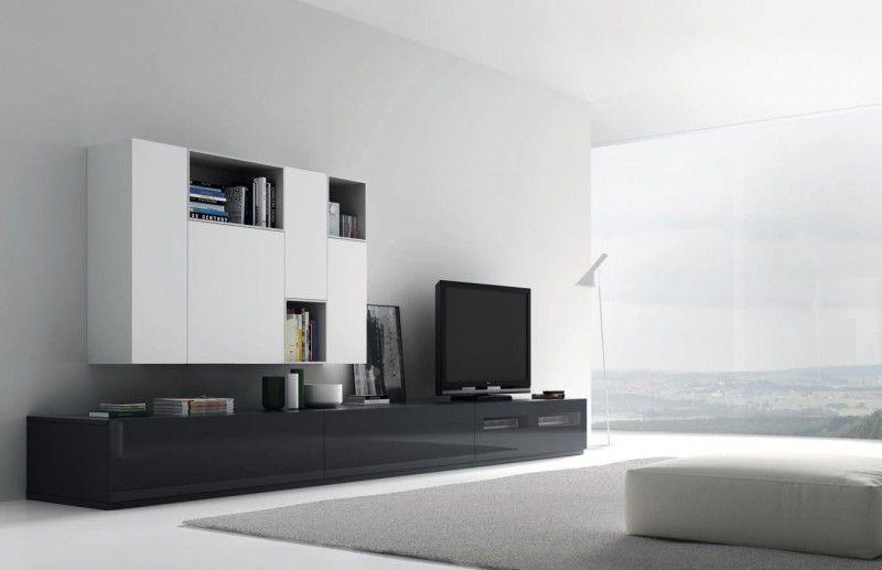 mueble-salon-blanco-gris-vive | salon | Pinterest | Salón blanco ...