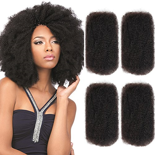 Style Icon 4 Bundles Afro Kinkys Bulk Human Hair 20 20 20 20 Natural Black Afro Kinkys Bulk