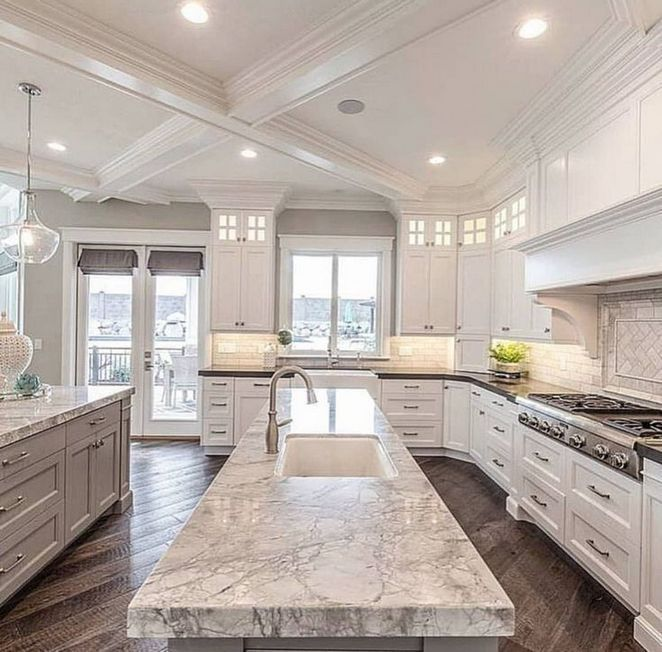 03 White Kitchen Cabinets With Granite 156 Enakhome Com