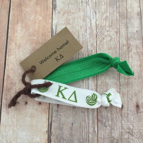 Kappa Delta Sorority Hair Ties; Kappa Delta Bid Day Bag Accessory; Big Little Reveal; Little Gift; S #biglittlereveal