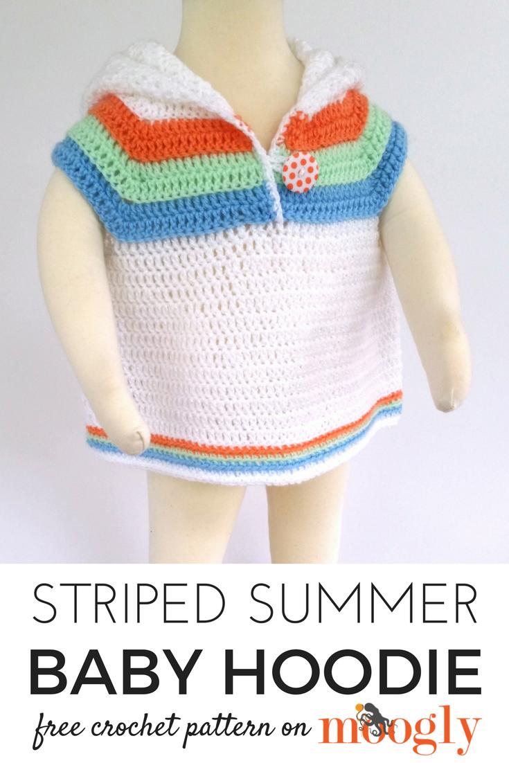 Striped Summer Baby Hoodie - Free #Crochet Pattern on | Crochet ...