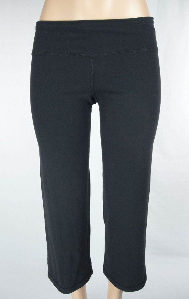 eef115cfe8 LULULEMON Crops Size 6 S Black Drawstring Waist Pants #Lululemon  #PantsTightsLeggings. Find this Pin and more ...