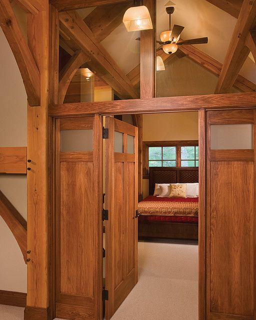 Timber Treasure Timber Frame Home - Master Bedroom | For the Cabin ...