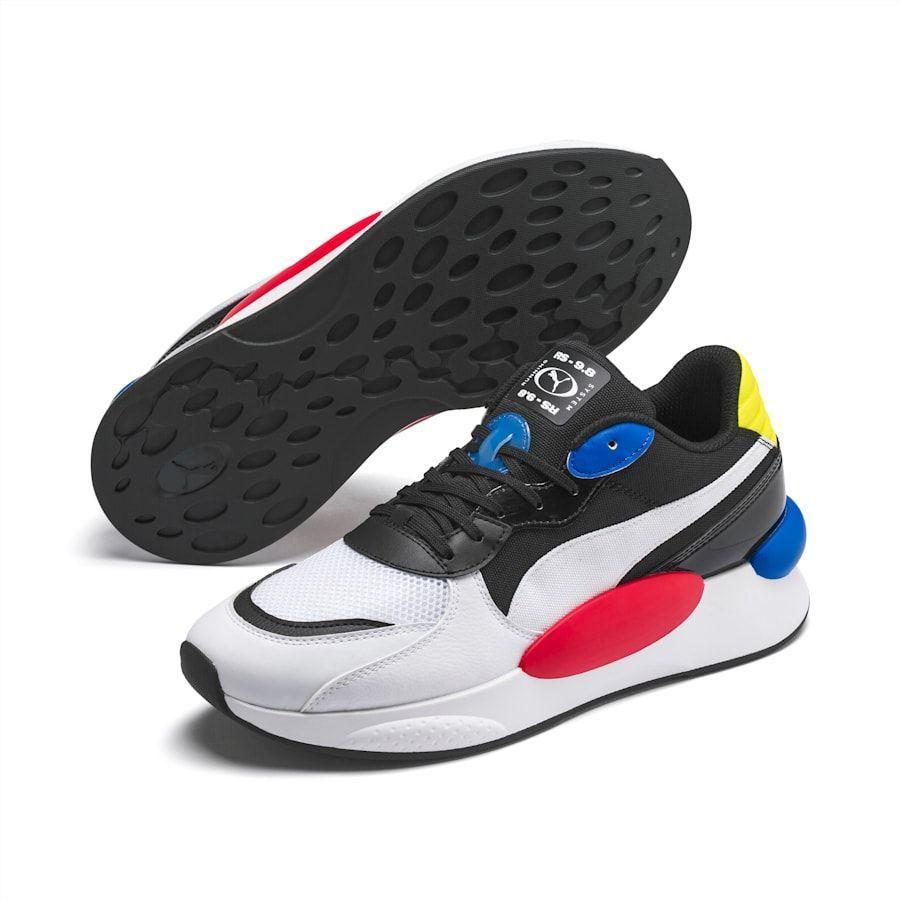 Blue puma shoes