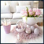 Luxe prachtige paasdecoraties om indruk te maken op uw gasten  Deko Wohnzimmer  decorations table