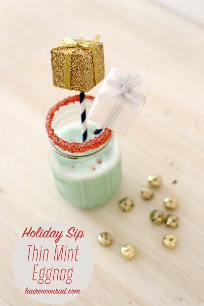 Lovely Libations: Thin Mint Holiday Eggnog