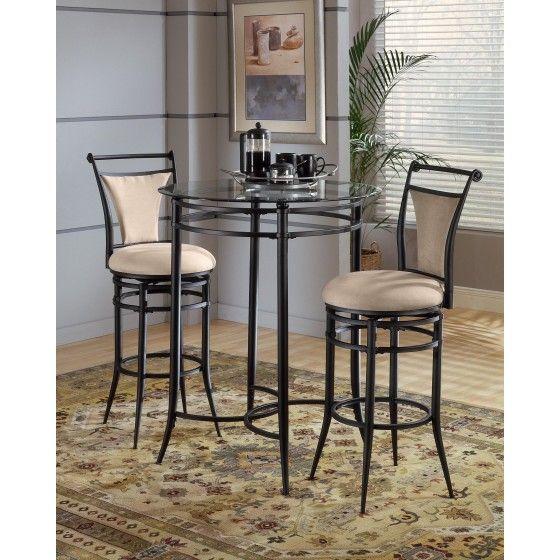 Hillsdale Cierra 3 Piece Bistro Set Fawn Black Beautiful Bistro Set 344 42 Kitchen Bar Table Pub Table And Chairs Bistro Table Set