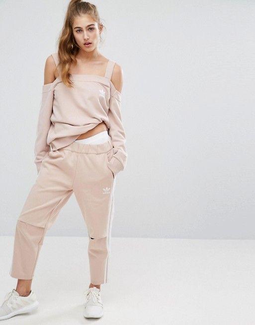 dd0580f09f adidas Originals Cold Shoulder Three Stripe Top | Hoodies ...
