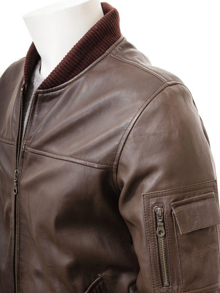 Men S Black And Dark Brown Classic Elegant Leather Bomber Jacket In 2021 Leather Bomber Jacket Brown Bomber Jacket Brown Leather Bomber Jacket [ 1024 x 768 Pixel ]