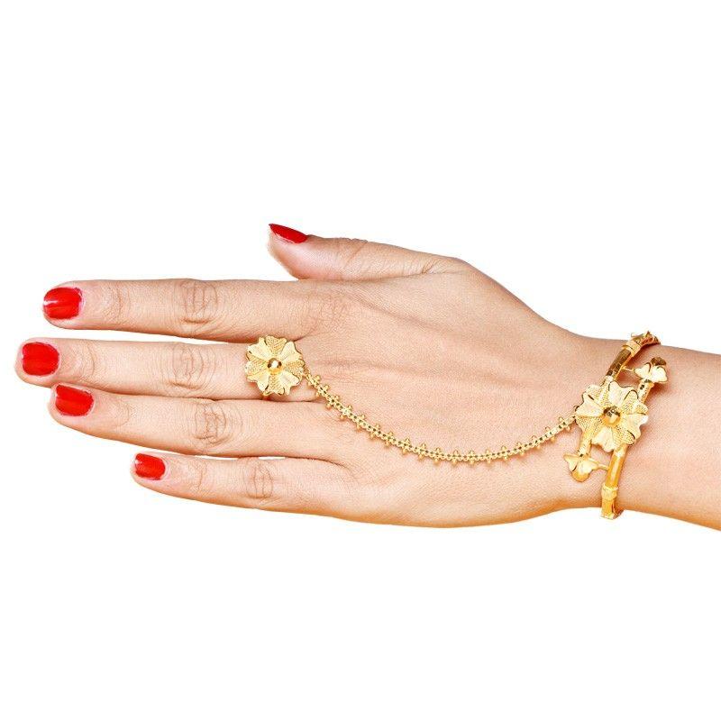 Senco Gold 22K Single Folded Ratan Chur Bracelet | gold bracelets ...