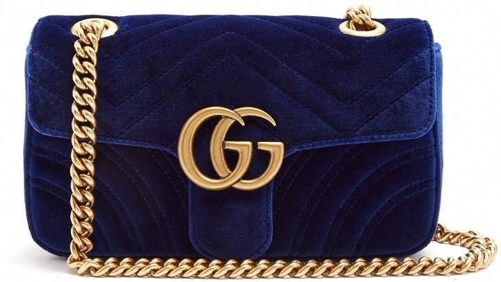 e91c496a3 GUCCI GG Marmont mini quilted-velvet cross-body bag #gucci #ShopStyle #