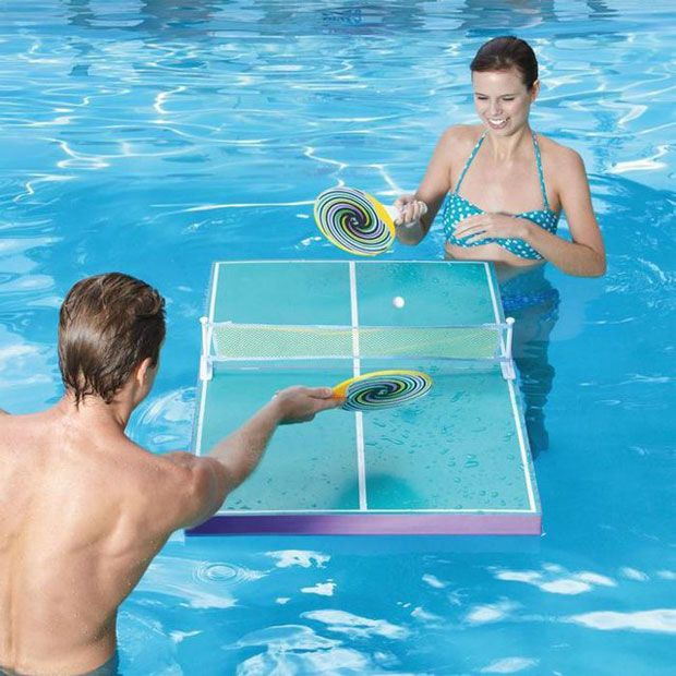 Floating Waterproof Pool Pong Table Fun In The Pool Things I Love Pinterest Ping
