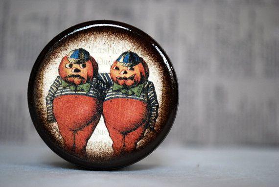 Halloween In Wonderland  Tweedle Dee and Tweedle Dum by Mmim, $6.50